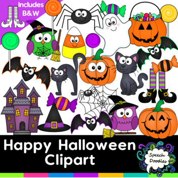 Happy Halloween Clipart - over 40 images!