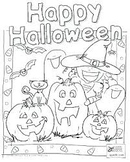 Happy Halloween Coloring Sheets!