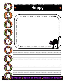 Happy Halloween Creative Writing Prompt Early Elementary