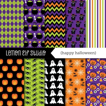 Happy Halloween-Digital Paper (LES.DP47)