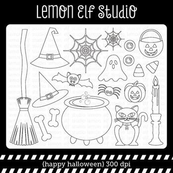 Happy Halloween-Digital Stamp (LES.DS47)