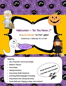 "Happy Halloween ~ ""Do You Have...""  (A Spook-tactular Go Fish Game)"