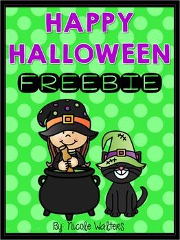 Happy Halloween FREEBIE