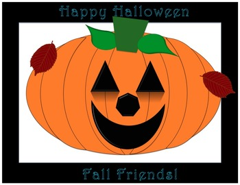 Happy Halloween Fall Friends poster