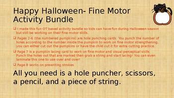 Happy Halloween Fine Motor Activity Bundle
