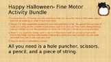 Happy Halloween Fine Motor Activity Bundle