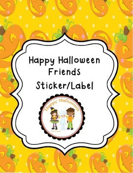 Happy Halloween Friends Tags/Stickers/Labels