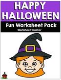Happy Halloween Fun Worksheet Pack (K-2)