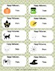 Halloween Labels/Tags Fillable PDF with To and From fields
