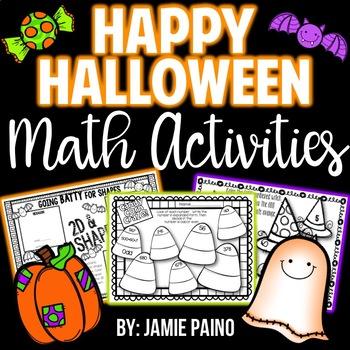 *Happy Halloween Math Activities*