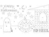 Happy Halloween Math Fun Coloring Sheet