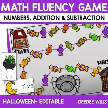 Math Fluency:  Halloween editable