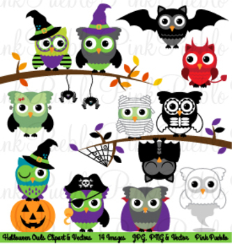 Happy Halloween Owl Clipart Clip Art