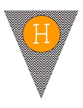 Happy Halloween Pendant Banner