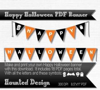 Happy Halloween Printable PDF Banner