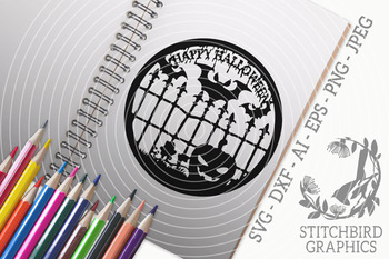 Happy Halloween Pumpkin Patch Svg Dxf Instant Download Stitchbird Graphics