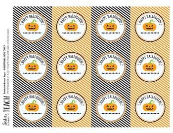 Happy Halloween Pumpkin Tags