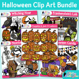 Halloween Clip Art Bundle {Pumpkins, Witch, Ghost, Franken