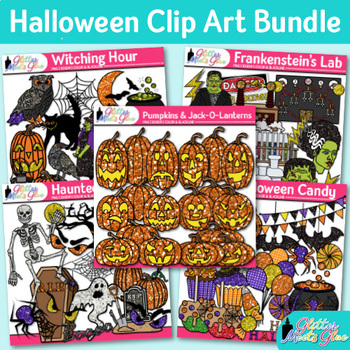 Halloween Clip Art Bundle {Pumpkins, Witch, Ghost, Franken