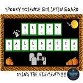 Halloween Bulletin Board or Poster For Science Chemistry Elements
