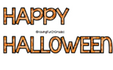 Happy Halloween Sign/Letters (EDITABLE!)