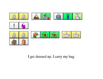 Happy Halloween Social Story with LAMP Words for Life sequences-AAC device