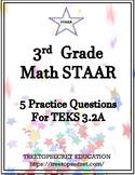 3rd Grade Math STAAR Practice Set for TEKS 3.2A