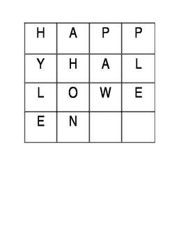 Happy Halloween Word Work