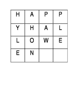 Happy Halloween Word Work
