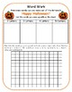 Happy Halloween:  Making Words and Extension Word Search Activity