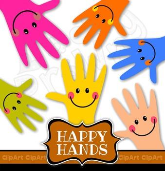 Happy Hands Clip Art Set