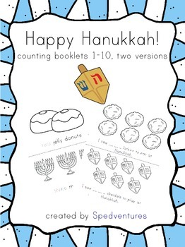 Happy Hanukkah! Counting 1-10 mini booklets - two versions