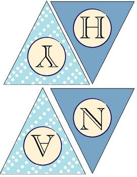 Happy Hanukkah Flag Banner