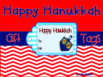Happy Hanukkah Gift Tags