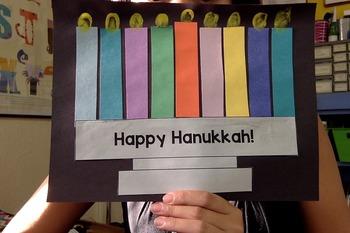 Happy Hanukkah! Menorah Craft