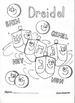 Happy Hanukkah and Dreidel coloring pages