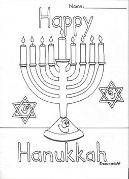Happy Hanukkah And Dreidel Coloring Pages By Noodlzart Tpt