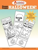 Happy Happy Halloween - Color-in Joke Bookmarks
