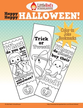 Happy Happy Halloween - Color-in Joke Bookmarks