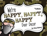 Door Decor: Happy, Happy, Happy Camo