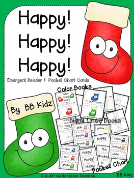 Happy! Happy! Happy! Christmas Stocking Emergent Reader about Colors