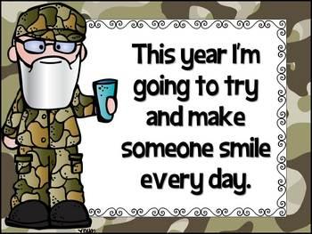 Happy Happy Happy New Year Duck Dynasty Inspired Bulletin Board