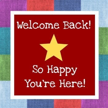 Back to School Signs - FREE Happy Welcome Posters