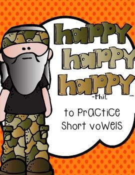 Happy, Happy, Happy to Practice Short Vowel Sounds
