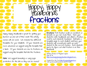 Happy Happy Headbands: Fractions