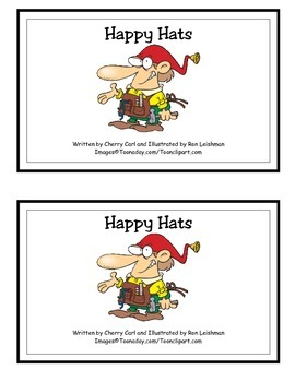 Happy Hats! Guided Reader (-at Word Family)