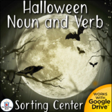 Halloween Noun and Verb Sorting Literacy Center