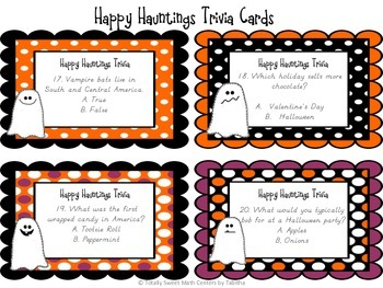 Happy Hauntings- A Math and Halloween Trivia Board Game! Gr.4