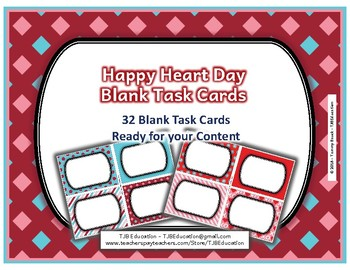 Happy Heart Day Blank Task Cards