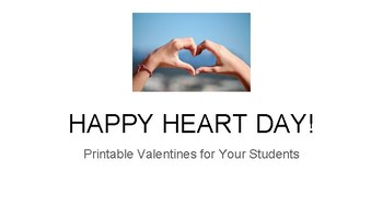 Happy Heart Day - Valentines for Students